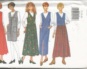 Butterick 4630  Misses Jumper and Top Pattern  SZ 12-16
