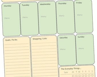 Mom's Planner - Get Organized Appointments, To Do List, Meal Planning, Shopping List, Goals, Daily Checklist, Notes
