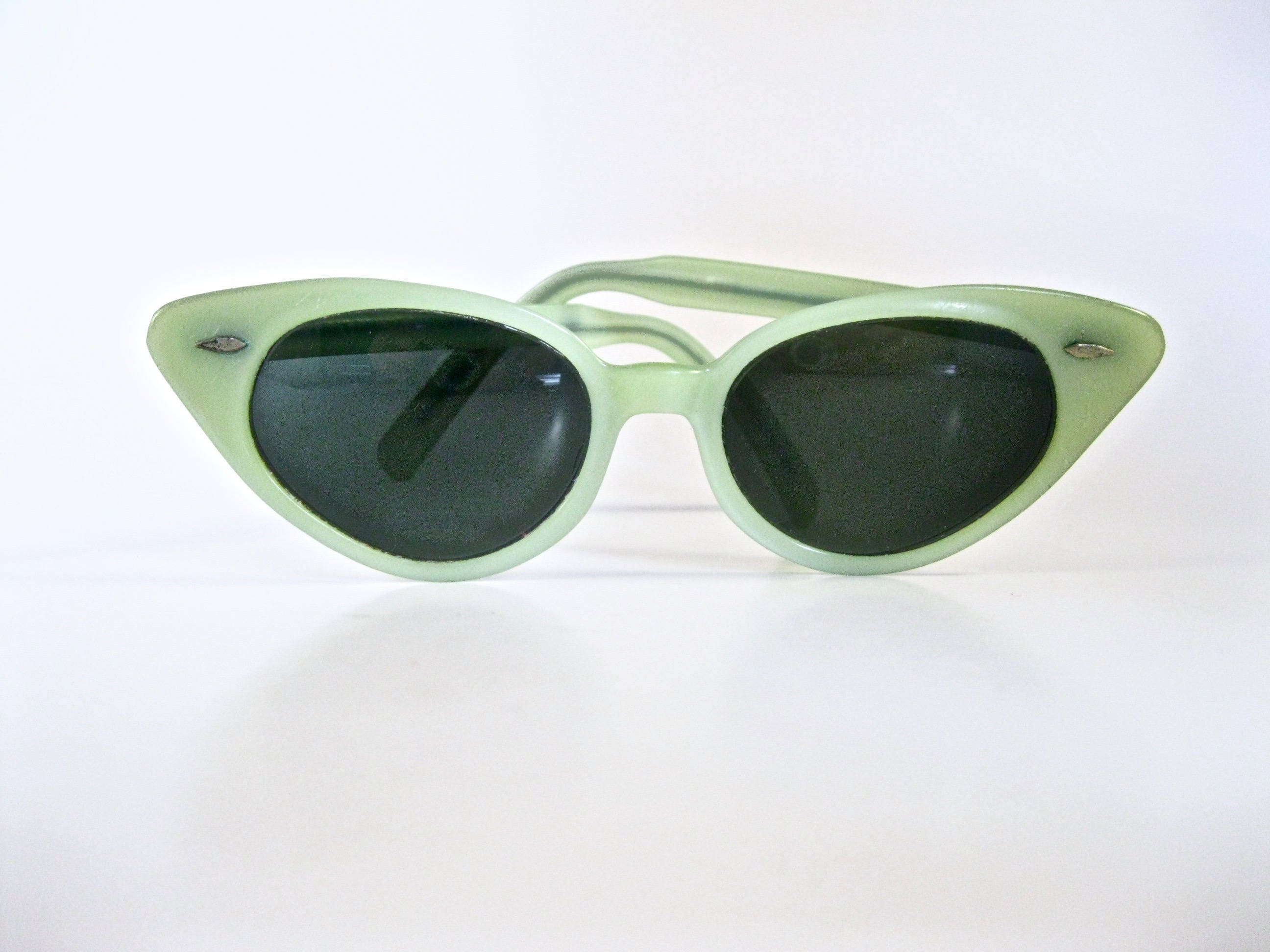 7509a3018d43 Ray-Ban vintage cat eye glasses. Jade mint green. Collectable 1950s Ray-