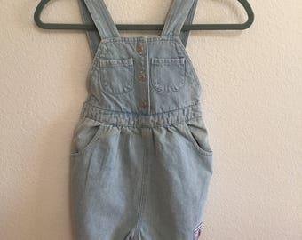 Vintage Girls Denim Overalls - Size 4T