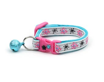 Scientist Cat Collar - Atoms - Nerdy- Small Cat / Kitten Size or Large Size - Teacher - Chemistry