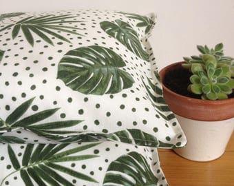 spotty monstera cushion monstera pillow monstera throw pillow palm pillow botanical pillow botanical cushion plant cushion new home gift