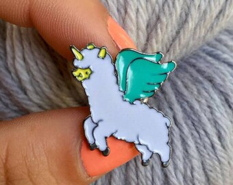 Enamel Pin - Unicorn Alpaca
