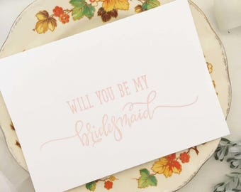Will You Be My Bridesmaid - Bridesmaid Proposal - Will You Be My Bridesmaid Card - Bridesmaid Cards - Bridesmaid Gift - Wedding Party Gifts