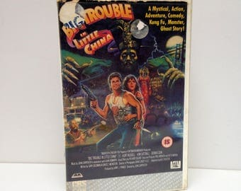 RARE Vintage VHS cassette tape Big Trouble in Little China 1986 Kurt Russell