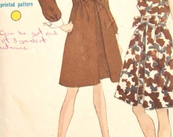 Vintage Sewing Pattern - Vogue Sewing Pattern - Mod Sewing Pattern - Mod Dress Pattern - Vintage Vogue Pattern -  A Line Dress