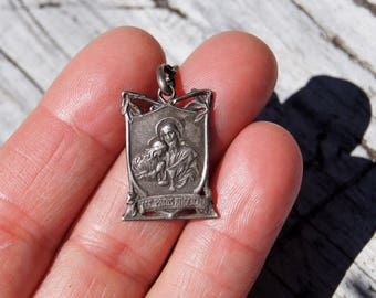 Behold the Bread of Angels Catholic Eucharist Victorian Charm