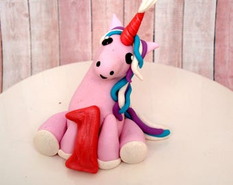 Unicorn Birthday Cake Topper Party Decoration Baby Cake Topper Baby Girls Birthday Party Smash Cake Topper Fantasy Birthday Cake Topper