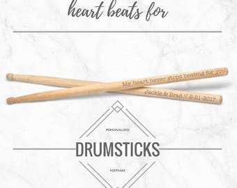 Valentine's Day Drumsticks, Personalized Drum Sticks Any Text