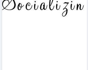 Mens Longsleeved Shirt - Socializin'