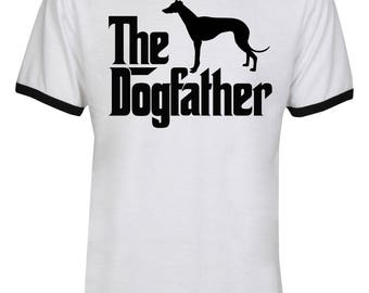 The Dogfather Greyhound Shirt - The Dog Father Greyhound Shirt - Greyhound Dog Shirt - Dog Dad - Men Unisex Ringer Tee T-Shirt - IZRSUB178