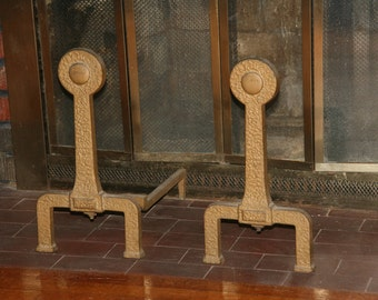 Cast iron andirons etsy for The actor s art and craft