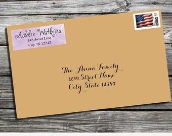 Address Label, Watercolor Address Label, watercolor Label, Return Address Label, Envelope Mailing Label, Personalized Label, watercolors