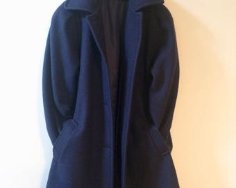 Vintage Wool Navy Blue Jacket