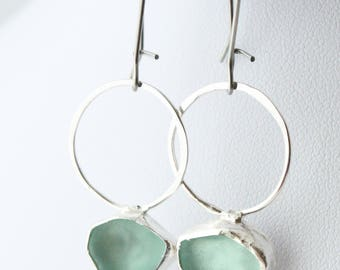 Sea Glass Earrings, Beach Glass Earrings, Sea Glass Jewelry, Beach Glass Jewelry, Silver Jewelry, Dangle Earrings, Earrings, Jewelry,