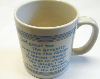 Coffee Cup Mug Serenity Prayer