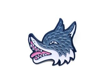 Wolfy Enamel Pin - wolf enamel pin