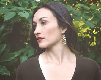 Large Oak Earrings - Dangle Earrings - Minimalist Jewelry - Boho Earrings - Nature Jewelry - Statement Earrings - Gift for Her