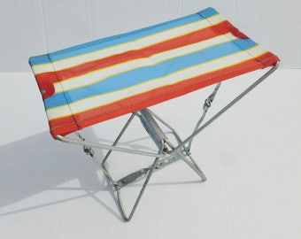 Compact Folding Camp Stool Metal Frame With Mesh Seat Camping, Fishing,  Hiking, Hunting