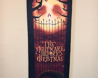 Nightmare Before Christmas Fabric Scroll