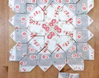 Lucy Boston Patchwork of the Crosses summer cottage block kit #34