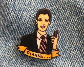 Agent Cooper 'Dianne' pin badge