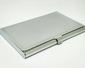 Blank Business Card Holder - Metal Card Case - Card Holder Frame