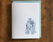 Star Wars R2-D2 Letterpress Card