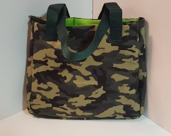Camo Activity Bag With Inside Waterproof Pocket