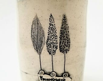 Best Friend Gift- Ceramic Cup |Rustic Tumbler | SEEDS Collection | #SEEDSBW4-F