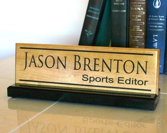Office Desk Name Sign Custom Personalized Desk Name Plate Teacher Name Plate Professional Hardwood Desk Sign Office Accessories