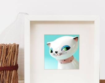 5x5 Macro Photographic Art Print of Holt Howard Kozy Kitten Salt & Pepper Shaker
