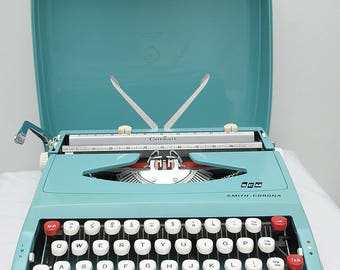 Powder Blue Smith Corona Typewriter