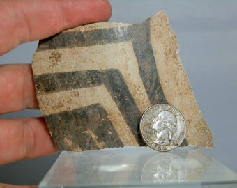 "Large Anasazi Pottery Shard Artifact From Arizona  4.18"" x 3.45"" Rare Monochrome Color Antique Native American Artifact"