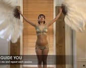 How to BURLESQUE FEATHER FAN Dance: Video Tutorial