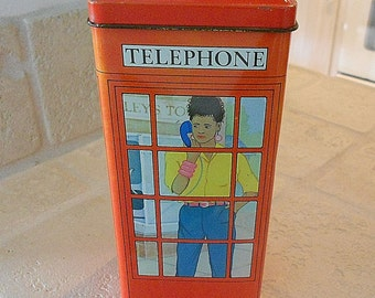 London  Telephone Booth Tin Bank