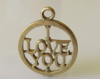 9ct Gold I Love You Pendant or Charm