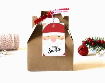 From Santa Christmas Gift Tags - (Set of 10) - Christmas Tags, Santa Gift Tags, Christmas Gift Wrap, Xmas Tags, Holiday Gift Tag, Santa Tags