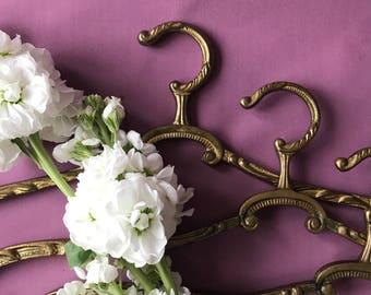 Gold Vintage Brass Curved Clothes Antique Brass Coat Art Nouveau Unique