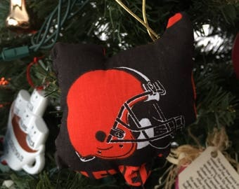 Ohio Ornament in Cleveland Browns Football | Free Shipping :)