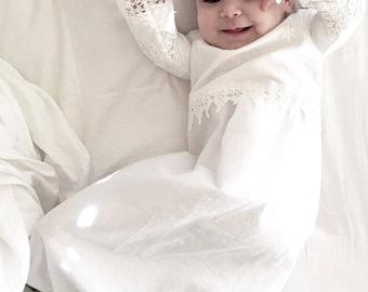 Christening dress baby girl  -  baby girl Baptism dress - baptism dress - Christening gown --Heirloom design --A6535
