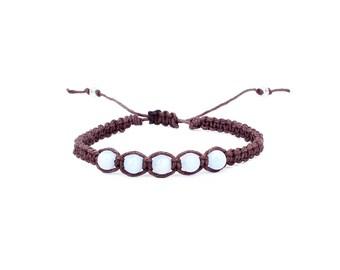 Blue Lace Agate Bracelet, Chalcedony Bracelet, Blue Lace Agate Jewelry, Yoga Bracelet, Gemstone Bracelet, Chakra Bracelet
