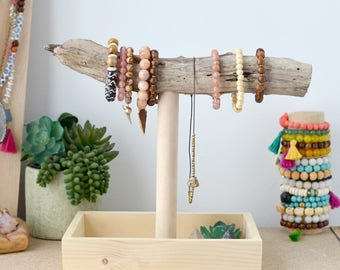 Driftwood Bracelet Holder Display