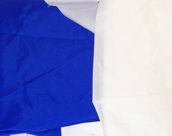 1 lb Blue & White NYLON TAFFETA Scrap Kites Banners Windsocks Crafts Water Resistant