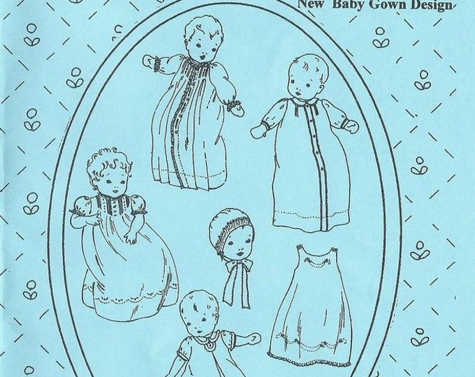 Baby Layette  / Day Gown Patterns / Newborn Patterns / Girls / Boys / Jeannie Baumeister / The Old Fashioned Baby
