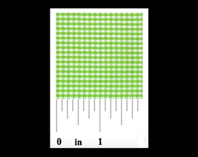 """Gingham/ Lime Green Gingham / Small Gingham / 1/16 Gingham  / by Fabric Finders 60"""" wide"""