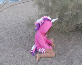 Baby Unicorn Outfit-Pink Unicorn-Girl Hoodie-Unicorn Costume-Unicorn Kids Hoodie-Unicorn Dress Up-Unicorn Birthday Party-Back to School