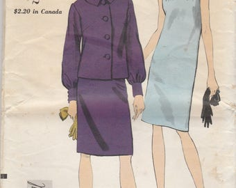 60s Dress & Jacket Pattern Vogue 7042 Size 12