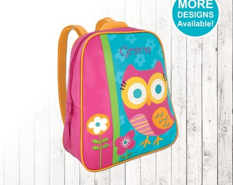 Personalized Owl Backpack, Stephen Joseph Go Go Backpack, Embroidered kids Name, Monogram, Toddler Backpack