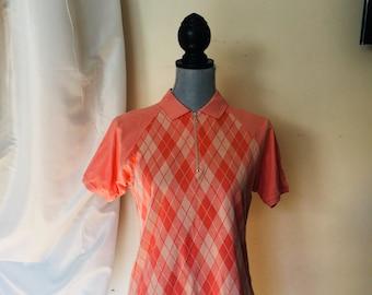 Polo /Golf Shirt by Marbas - Nairn Golf Club Scotland logo embroidered Salmon M